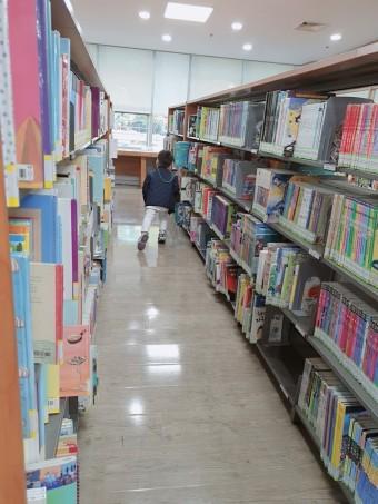 용인 수지 죽전 도서관                  어린이 자료실에서 책 빌리기