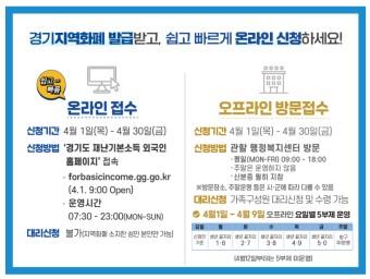 2차 경기도 재난지원금 외국인 방문신청