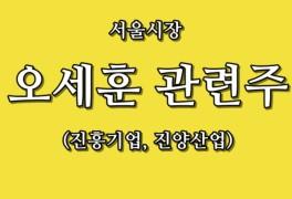 오세훈 관련주 진흥기업, 진양산업, 서울시장