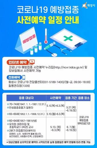 [알림] 코로나19 예방접종 사전예약 일정 안내