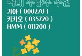국내 우량주 추천 성장주 가치주 기아, HMM, 카카오 주가 0524...