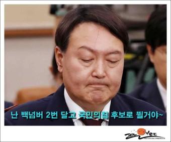 윤석열 기호 2번 달고 국민의힘 후보로 대선에 나선데.