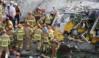 광주 건물 붕괴 시내버스 승용차 2대 덮쳐 구조 중 목격자 제보 영상 풀영상