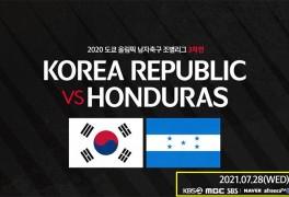 한국·온두라스 도쿄올림픽 축구 중계 일정, B조 예선 최종전...