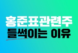 홍준표 관련주 지지율 상승으로 들썩! 관련종목 살펴보기