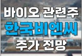 바이오 관련주 한국비엔씨 주가 전망: 코로나 치료제...