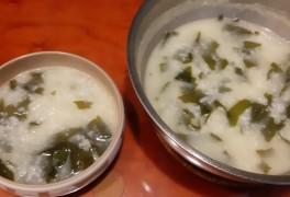 들기름미역죽, 한국인의 밥상에서 배웠어요^^