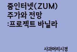 줌인터넷 주가 (ZUM)와 전망 : 프로젝트 바닐라
