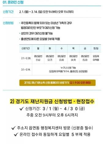 2차 경기도 재난지원금 신청