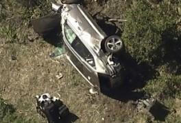 골프황제 타이거우즈 제네시스 GV80 차량 전복 사고 중태...