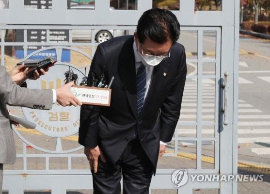 '공직선거법·정치자금법 위반' 정정순 검찰 조사 | 포토뉴스