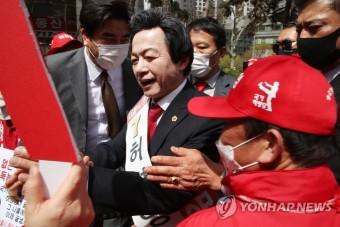 유세 나선 국가혁명당 허경영 서울시장 후보