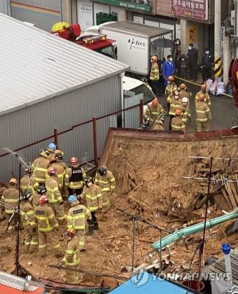광주서 건물 붕괴…매몰자 구조