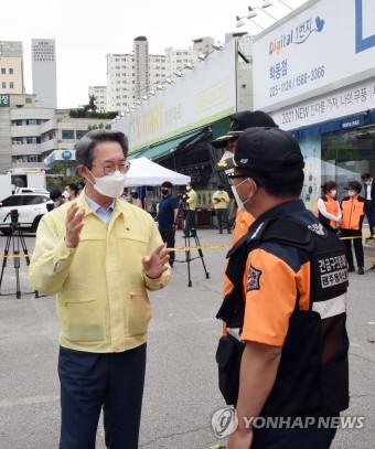 광주 건물 붕괴 사고현장 방문한 김희겸 재난안전관리본부장