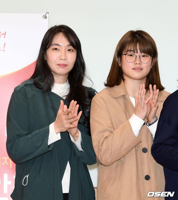 [사진]백지은-이소희,'국민들 응원 합니다'