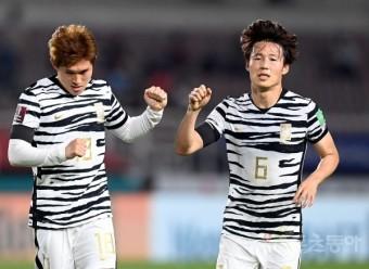 [포토] 이동경, 한국 2번째 골!