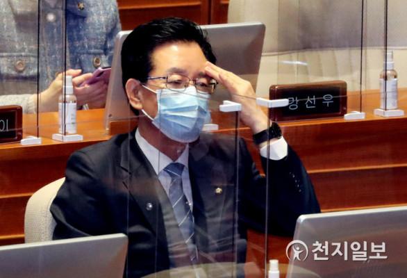 [천지포토] '문재인 대통령 시정연설' 참석한 정정순 의원 | 포토뉴스