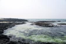 제주도해수욕장 비양도가 멋있게 보이는 협재해변