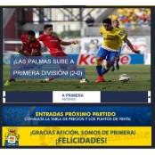 라스 팔마스, 14시즌 만에 스페인 프리메라리가 복귀 라스팔마스