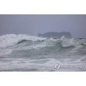 제주해상 7m 파도로 여객선 결항…육상, 초속 20m 7m 비바람