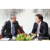 권태신 부회장, 암브로제티 중국법인 CEO 암브로 접견