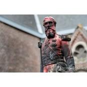 벨기에서 시위대에 훼손된 콩고 식민지배 세조각 옛 국왕 동상 철거