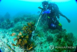 바닷속 해양쓰레기 줍