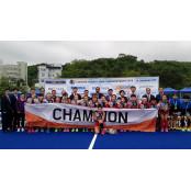 동해 아시아여자 참피온스 하키대회 '한국 대표팀 우승' 하키스코어