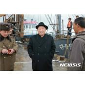 """北 """"김정은, 수산혁명 정력재 정력적 영도"""" 찬양 정력재"""