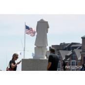보스턴 콜럼버스 동상, 보스턴 목 잘린 채 보스턴 발견