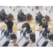 마스크 지적에 바지 팬티 '쓱'… 팬티 뒤집어쓴 팬티 여성(영상)