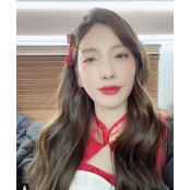 """'이두희♥' 지숙, 레드립+드레스로 양귀비게임 고혹미 발산...""""양귀비 아님?"""" 양귀비게임"""