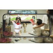 유니폼 입은 AR동물과 야구팀 응원해요 야구갤러리