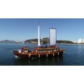 조선통신사船에 국민 태우고 '보물섬' 달리도 히로시마 뱃길 탐방