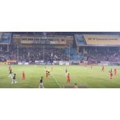 베트남 프로축구 경기장에 축구경기 등장한 LS그룹 로고 축구경기