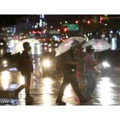 13일 남부지방서 시작된 비가 밤에 전국으로 확대…최고 물밤 150mm