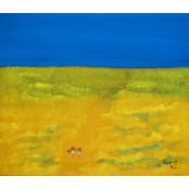 <그림이 있는 골프에세이>맨발로 걸었던 18홀 2017황금성 잔디밭… 포근한 감촉에 '힐링'