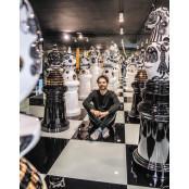 런던 트래펄가 광장을 거대 체스판으로 바꾼 남자 바카라좋은그림