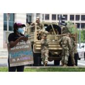 플로이드 시위 막다 워싱턴 코로나 번졌다, 워싱턴DC 워싱턴 방위군서 확진