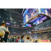 삼성 초대형 LED 골든스테이트 워리어스 홈구장 스크린, NBA 골든스테이트 골든스테이트 워리어스 홈구장 워리어스 홈구장 빛낸다 골든스테이트 워리어스 홈구장