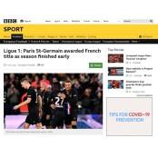 코로나19 프랑스 프로축구 파리생제르맹FC 조기 종료... 파리 파리생제르맹FC 생제르맹 우승