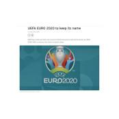 1년 연기된 유로 유로2020 2020, 대회명은 유지 유로2020