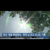 정선·영월 폭염특보…화천 낮 최고 33.9도 기록