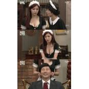 SNL 전효성, 가슴 훤히 드러나는 하녀복 하녀복 입고 신동엽 유혹