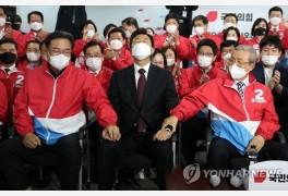 野, 서울·부산시장 선거 압승…정권교체 희망 살려