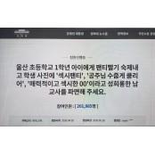 '속옷세탁 숙제 낸 섹시한속옷 교사 처벌' 청원 섹시한속옷 20만 돌파