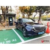 [시승기] '고속전비 5.7km/kWh' 패들 벤츠 순수 전기차 패들 EQC