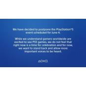 소니, PS5 이벤트 라이브스 연기…흑인 사망 시위 라이브스 때문