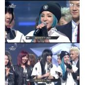2NE1, 포미닛 누르고