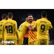 바르사, 에스파뇰과 카탈루냐 RCD에스파뇰 더비서 2-2 무승부...우레이에 RCD에스파뇰 통한의 실점